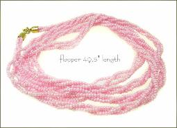 Opalescent pinks, necklace is a continuous 49
