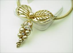 Designer Signed CORO CRAFT Snake Chain and Pearls