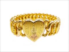 Impeccable rolled gold victorian revival gold field sweetheart bracelet