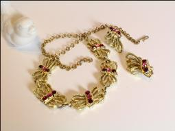 Vintage Butterfly Necklace Set