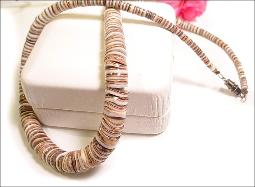 Neutral colors, Heishi Shell vintage necklace
