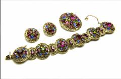 A grand 3 pc jewelry set with luxurious colors